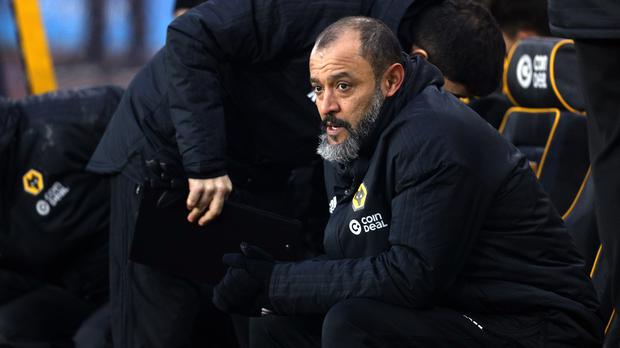 Wolves manager Nuno Espirito Santo is hunting a fourth straight win. (Aaron Chown/PA)