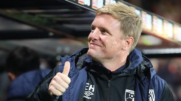 Eddie Howe , pictured, is looking forward to pitting his wits against Brighton boss Chris Hughton (Adam Davy/PA)