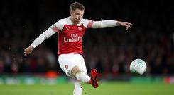Arsenal's Aaron Ramsey is being tipped for a move to Juventus (Nick Potts/PA)