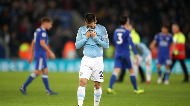 David Silva is dejected after the defeat to Leicester (Nick Potts/PA)