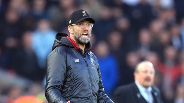 Liverpool manager Jurgen Klopp insists a six-point lead at the top of the table is no cause for celebration (Peter Byrne/PA).