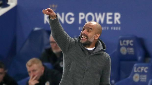 177757ec6199 Pep Guardiola watched his Manchester City side lose to Leicester (Nick  Potts PA)