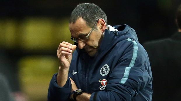 Maurizio Sarri defended Chelsea fans after the win at Watford (Steven Paston/PA)