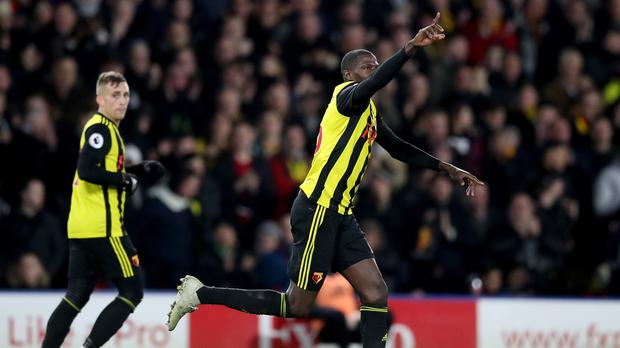 Watford's Abdoulaye Doucoure scored a late goal to claim a point against Newcastle (Adam Davy/PA)