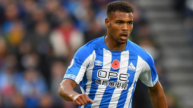 Steve Mounie is adamant Huddersfield can stay in the Premier League (Dave Howarth/PA)
