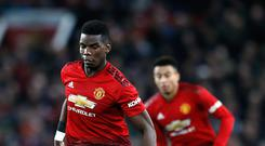Paul Pogba scored another two goals in the win over Bournemouth (Martin Rickett/PA).