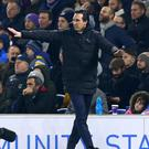 Unai Emery apologised to a Brighton fan after kicking a water bottle into the stand during Arsenal's draw on the south coast (Gareth Fuller/PA)