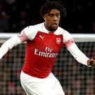 Alex Iwobi laid on an assist for Granit Xhaka's opening goal as Arsenal beat Fulham. (Isabel Infantes/PA)