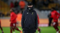 Jurgen Klopp made nine changes for Liverpool's trip to Wolves (Nick Potts/PA)