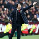 Arsenal manager Unai Emery defended his decision to leave Mesut Ozil out of his squad (Yui Mok/PA).