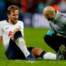 Harry Kane: Injured at Wembley. Photo: AFP/Getty