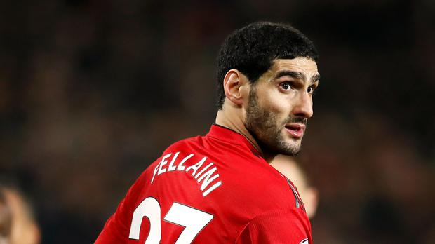 Manchester United's Marouane Fellaini has not featured as regularly in the starting XI under Ole Gunnar Solskajer (PA)