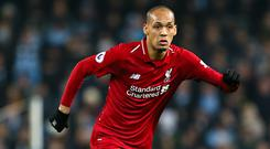 Fabinho's versatility will be useful to Liverpool while they cope with defensive injuries (Richard Sellers/PA)