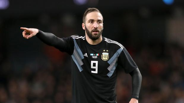 Gonzalo Higuain has refused to comment on speculation over a move to Chelsea (Martin Rickett/PA)