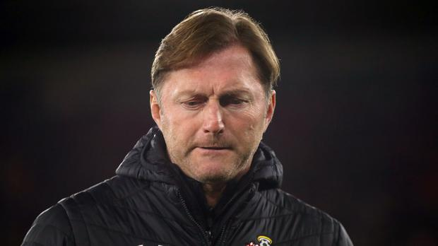 Southampton manager Ralph Hasenhuttl saw his side again throw away a 2-0 lead (Nick Potts/PA Wire)