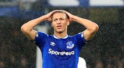 Richarlison will continue to play up front despite his lack of recent goals (Peter Byrne/PA).