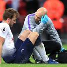 Tottenham will be without injured Harry Kane at Fulham (Mike Egerton/PA)