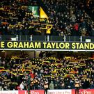 The Hornets paid tribute to Graham Taylor during the match (Jonathan Brady/PA)