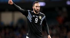 Gonzalo Higuain, pictured, remains a transfer target for Chelsea (Martin Rickett/PA)