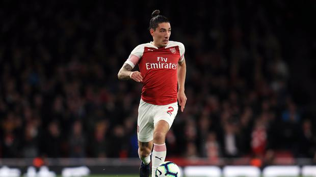 Arsenal's Hector Bellerin has been ruled out for the rest of the season with a knee injury (Mike Egerton/PA).