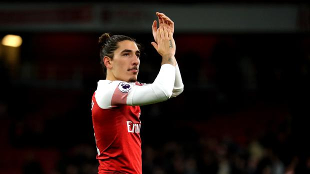 Hector Bellerin could miss up to nine months after suffering a serious knee injury (Isabel Infantes/PA).