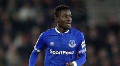 Everton midfielder Idrissa Gueye could be on his way to Paris St Germain (Adam Davy/PA)