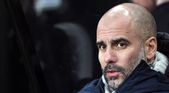 Manchester City manager Pep Guardiola saw his slide slip up in the title race at Newcastle (Richard Sellers/PA)