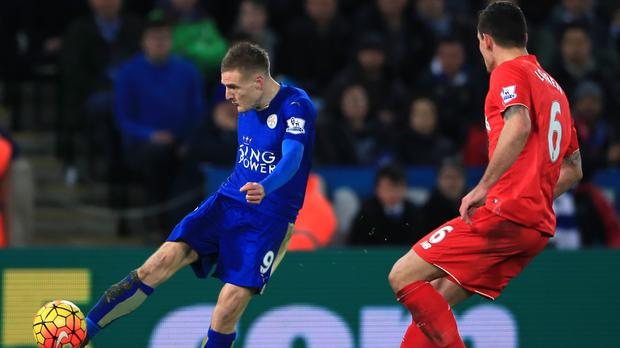 Liverpool manager Jurgen Klopp is wary of the threat of Leicester's Jamie Vardy (Nick Potts/PA)