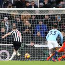 Matt Ritchie fires Newcastle to victory over Manchester City (Richard Sellers/PA)