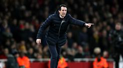 Arsenal manager Unai Emery is urging his side to be positive against Manchester City (Nick Potts/PA)