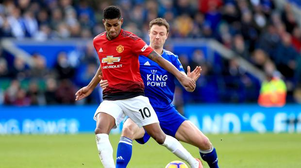Manchester United's Marcus Rashford scored the winner at Leicester. (Mike Egerton/PA)
