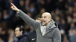 Manchester City manager Pep Guardiola saw his side hit back with a win (Martin Rickett/PA)