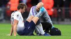 Tottenham's Harry Kane is working his way back from an ankle injury (Mike Egerton/PA)