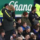 Pep Guardiola endured an afternoon to forget at Goodison Park in January 2017 (Peter Byrne/PA)