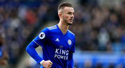 Tottenham are said to be keeping tabs on Leicester's James Maddison (Mike Egerton/PA)