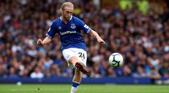 Everton midfielder Tom Davies accepts their set-piece defending is not good enough (Richard Sellers/PA)