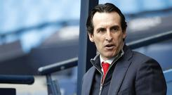 Unai Emery has demanded more from Arsenal on their travels (Martin Rickett/PA)