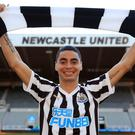Newcastle's record signing Miguel Almiron insists he will not be weighed down by his price-tag (Owen Humphreys/PA)