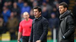 Everton manager Marco Silva saw his team beaten on his return to former club Watford (Nigel French/PA)