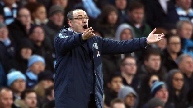 Maurizio Sarri accepts there is always a risk he might lose his job at Chelsea (Nick Potts/PA)
