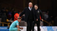 Newcastle United manager Rafael Benitez was deflated at the final whistle. (Nick Potts/PA)