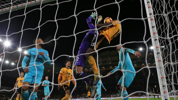 Willy Boly's header drew Wolves level against Newcastle (Nick Potts/PA)