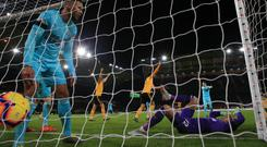 Newcastle keeper Martin Dubravka in the aftermath of Willy Boly's late equaliser for Wolves (Nick Potts/PA)