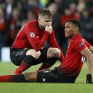 Anthony Martial, right, is set for a spell on the sidelines (Martin Rickett/PA)