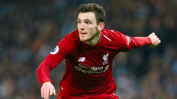 Liverpool defender Andrew Robertson is confident they can score away from home against Bayern Munich (Richard Sellers/PA)