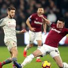 Declan Rice has excelled for West Ham this season (Adam Davy/PA)