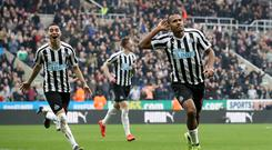 Newcastle striker Salomon Rondon (right) celebrates his goal against Huddersfield (Owen Humphreys/PA)