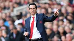 Unai Emery's Arsenal are back in the top four (Joe Giddens/PA)