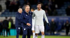 Victor Camarasa (right) has been criticised by his own Cardiff manager Neil Warnock (left) for declaring himself unavailable to play because of injury (Nick Potts/PA)