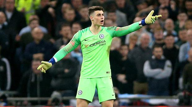 Kepa Arrizabalaga refused to be substituted (Nigel French/PA)